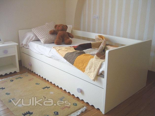 Foto cama nido venecia lacada para colchones de 90 190 - Cama nido lacada ...