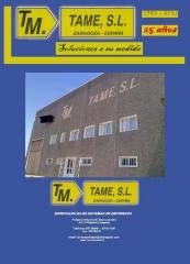 Encofrados TAME,S.L. Fabricaci�n y venta de SISTEMAS de ENCOFRADOS. Circulares, modulares ...