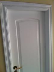 Puerta lacado en blanco-satinado (lacado en la obra)