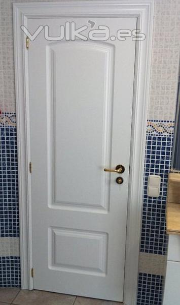 Foto lacado en blanco satinado en puertas y marcos - Puertas en blanco ...