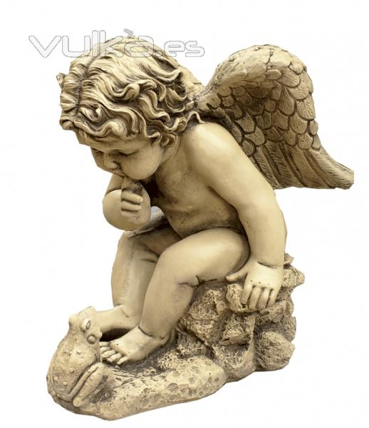 Foto figuras decorativas jardin angel - Figuras jardin piedra ...