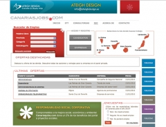 Desarrollo web a medida para un portal de empleo en canarias. www.canariasjobs.com