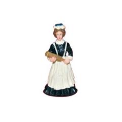 Criada con plumero en resina para casas de muñecas