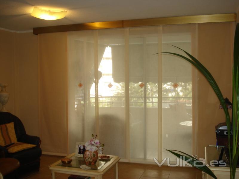 Cortinajes y decoracion don hogar s l - Panel japones salon ...