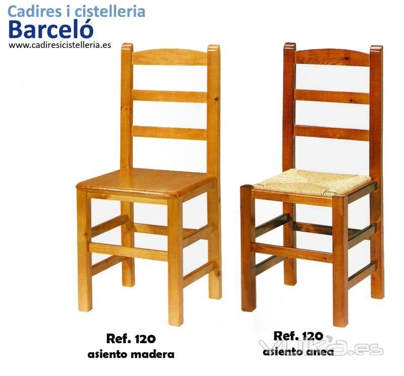 Foto cadires barcel cadira de fusta cadires per cuina for Sillas mimbre comedor