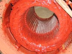 Motor electrico. estátor bobinado compresor de frío 1000 cv.
