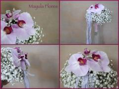 Ramo de novia orquideas mayula flores