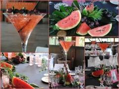 Decoraci�n  en finca sansui de centros con fruta ( para cuentos de hadas wedding planner) mayula flo