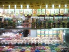 Mostrador de frutos secos y caramelos (variantes morera)