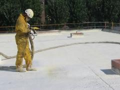 Proyectado de espuma de Poliuretano en cubiertas,fachadas,tejados...