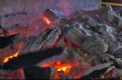 Interior horno de le�a