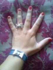 Conjunto pulsera y anillo lazo