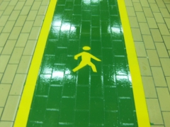 Paso peatones con pintura epoxi hardfloor