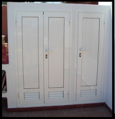 Carpinteria de aluminio,puertas para trastero .