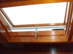 Carpinteria de aluminio,claraboya con madera interior