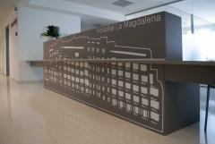 Rotulación oficinas.  Hospital La Magdalena Castellón