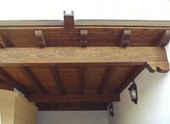 Pergola de madera en lanzarote