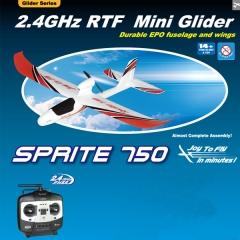 Avion sprite 750 rtf 2.4 ghz joysway rc electrico rojo