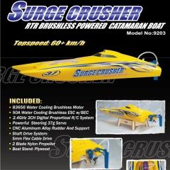 Catamaran surge crusher 2.4 ghz brushless joysway rc electrica