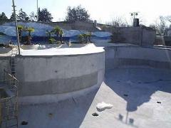 Impermeabilizaci�n de reservorios de agua del delfinario zoo aquarium de madrid
