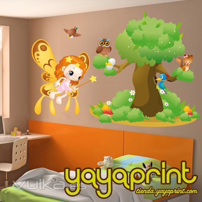 Foto vinilo infantil vinilo decorativo de pared for Pegatinas para habitaciones