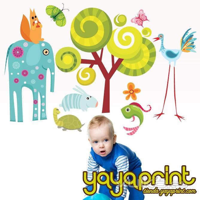 Foto vinilo infantil vinilo decorativo de pared for Vinilos bebe nino