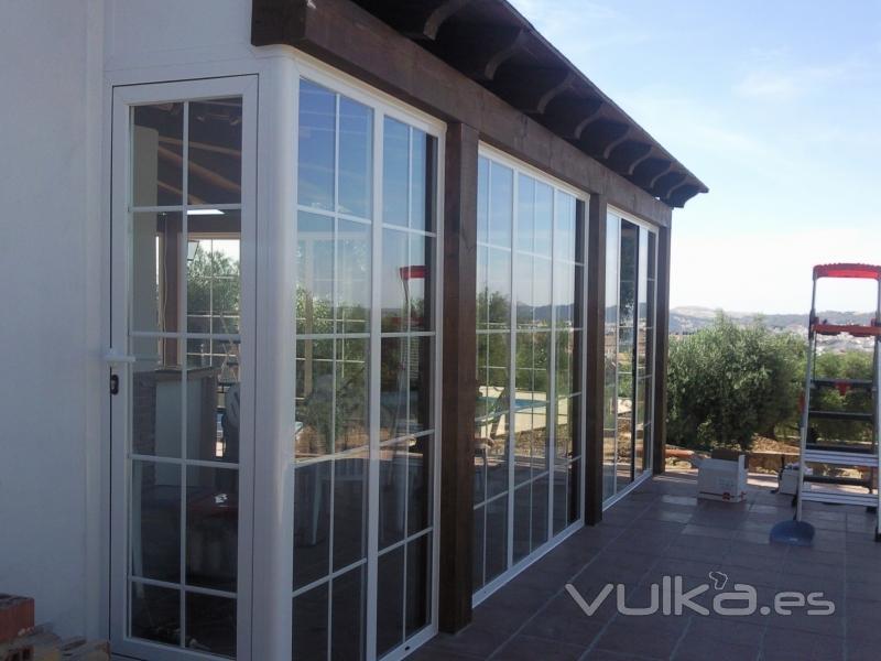 Foto cierre de aluminio - Cierres de aluminio para terrazas ...