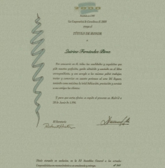 Quirino & brokers - titulo de honor  para quirino fernández pérez de e2000
