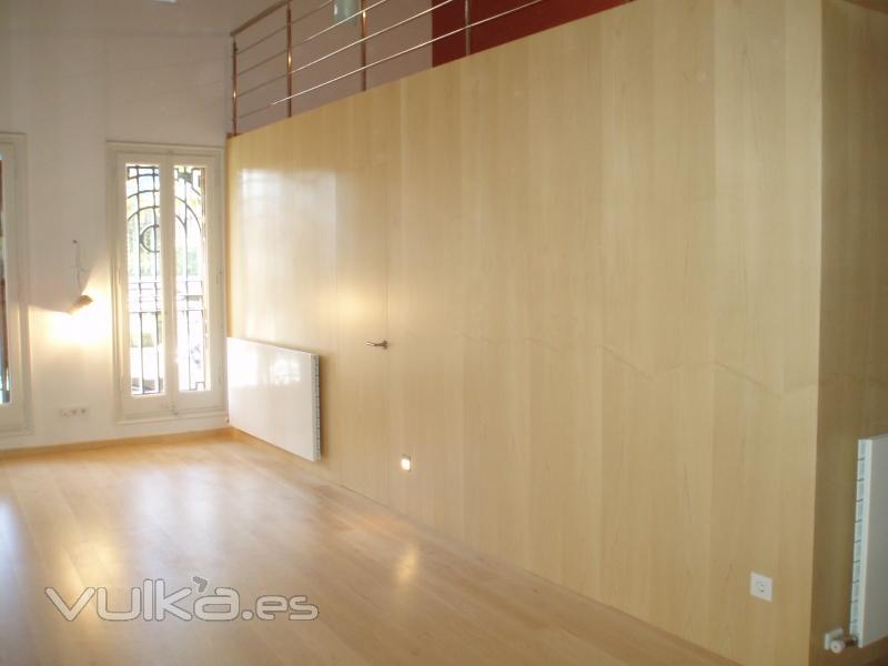 Foto panelado de paredes con puertas integradas 1 - Panelado de paredes ...