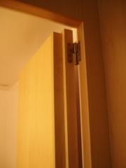 Puertas paneladas integradas en la pared