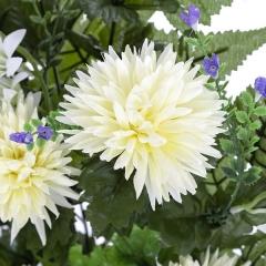 Ramo artificial de flores crisantemos minis crema en lallimona.com (detalle 1)