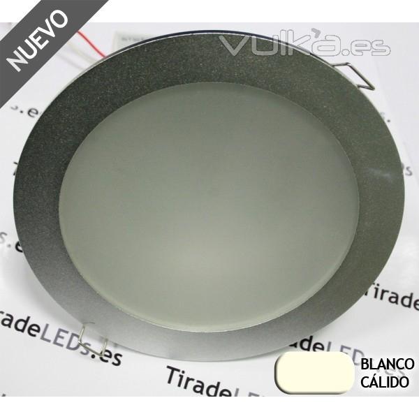 Empotrable de Techo tipo downlight LED, 15W, color: Blanco Puro