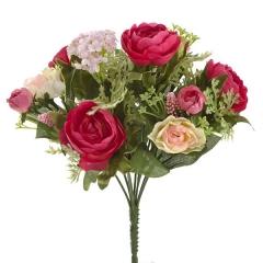 Bouquet flores artificiales ranunculos rosa 25 en lallimona.com (detalle 2)