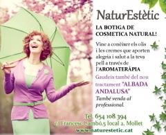 Naturestetic. cosmetica natural en mollet del vallès. cosmetica natural en corme porto