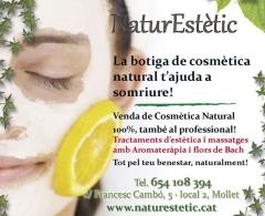 Centro de estética. mollet del vallès. venta de cosmetica natural. aceite de argan. corme.