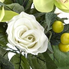 Bouquet flores artificiales orquideas verdes y rosas 28 en lallimona.com (detalle 2)