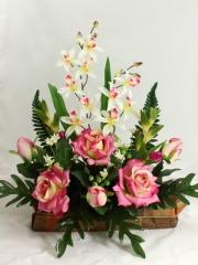 Flores todos los santos. jardinera cementerio rosas y orquideas artificiales oasisdecor.com