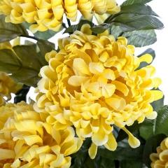 Ramo flores artificiales crisantemos amarillos 50 en lallimona.com (detalle 2)