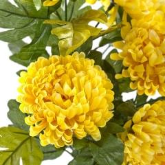 Ramo flores artificiales crisantemos amarillos 50 en lallimona.com (detalle 1)