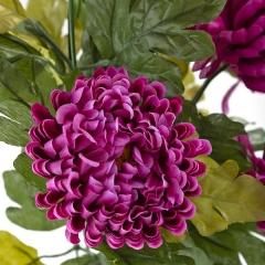 Ramo flores artificiales crisantemos malvas 50 en lallimona.com (detalle 1)