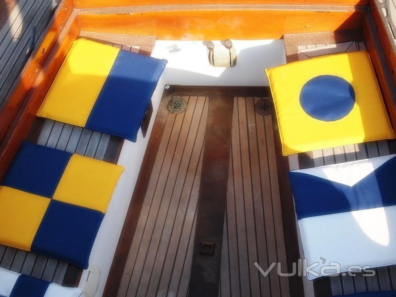 cojines nauticos - impermeables para la cubierta