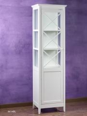 Mueble con vitrina de 1 puerta, color blanco.