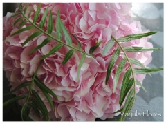 Ramo de novia hortensia rosa mayula flores