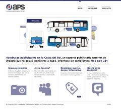 DISEÑO PÁGINA WEB AUTOBUSES PUBLICITARIOS DEL SUR