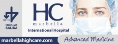 Diseño valla publicitaria hc hospitales marbella