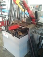 Maquina de cinta para cortar hierro u acero inox