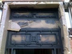 Pintado de puerta portal in situ  en oxiron edp pintores 695043311