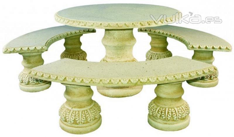 Foto mesas de jardin en piedra artificial 618eur iva inc - Mesas de piedra para jardin ...