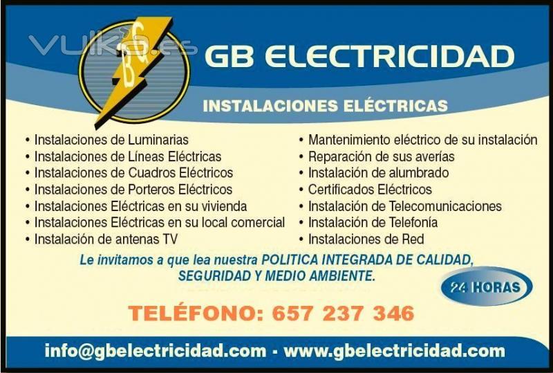 Gb electricidad for Empresas de electricidad en sevilla