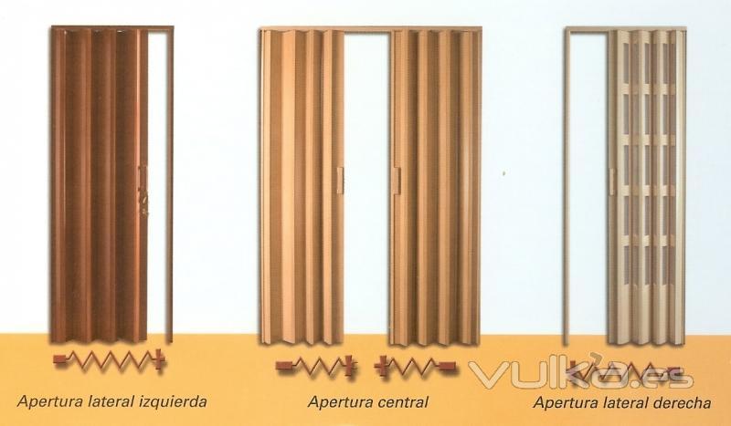 Foto puertas plegables de pvc lacadas o bien foliadas Cortinas plegables de pvc